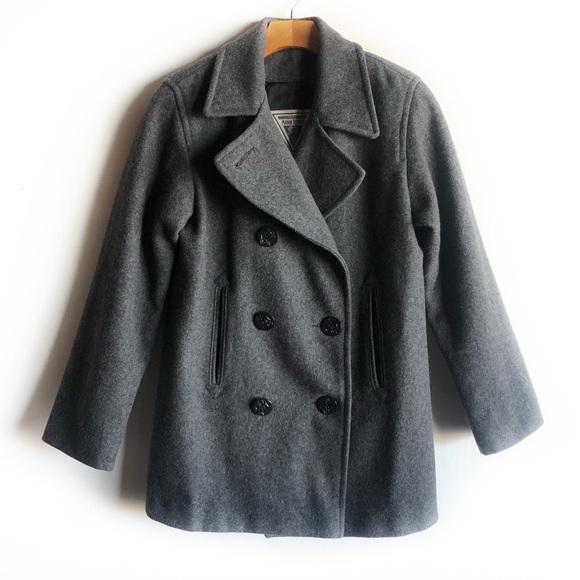 Marvin Richards Jackets & Blazers - Marvin Richards grey wool pea coat
